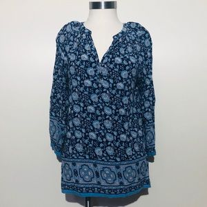 Artisan NY Blue Printed Top Size Small